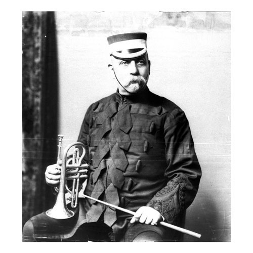 Trumpeter Lanfried, photographed late in life.
