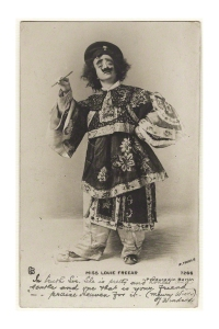 Louie Freear in Chinese costume photographed in the early 1900s.